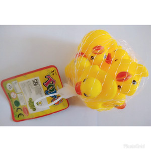 P-18000151 Mainan Anak Bebek Karet isi 6 Pcs untuk kolam Baby Spa