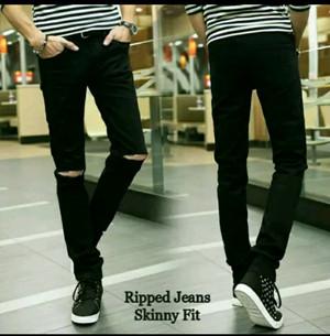 Celana Jeans Ripped - Sobek lutut