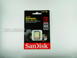 SD HC Card SanDisk 16GB EXTREME U3 90MB/s Class 10 Memory Kamera 16 GB
