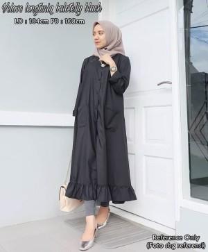 Velove Long Tunik Black
