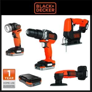 Black Decker GoPak 4-Tool Combo Kit 4 in1 Perkakas BDCK123S1S-B1