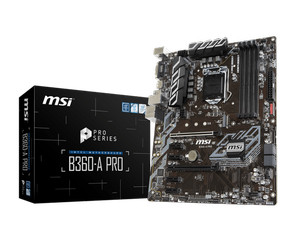 MSI B360A Pro (LGA1151, B360, DDR4, USB3.1, SATA3)