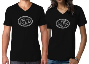 STP T-SHIRT Kaos Cotton Trendy Vintage V Neck Adem
