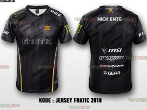 JERSEY KAOS BAJU TEAM GAMING DOTA 2 CS GO ML AOV  FNATIC 2018
