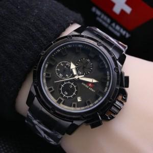 Jam Tangan Pria Swiss-Army-Chrono-WindMill-Black