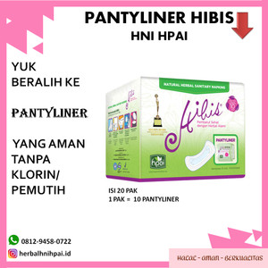 pantyliner herbal hibis hpai avail pntyliner