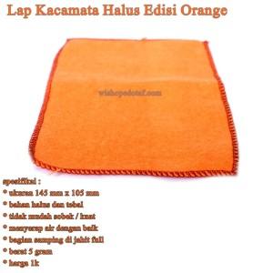 Lap Kacamata Microfiber  Halus Edisi Orange