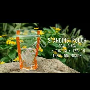 Plastik berdiri ziplock standing pouch khusus cairan 10x17.6