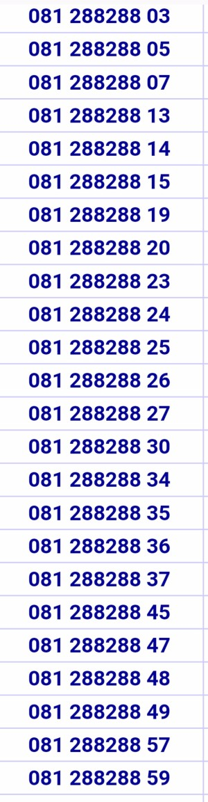 Nomor cantik telkomsel simpati 11digit 4G ekor 081 288 288