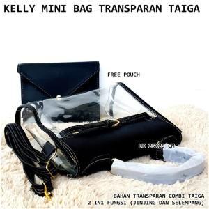 tas wanita valentine jelly transparan speedy hitam