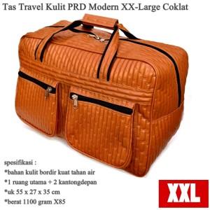 Tas Jinjing Travel Besar Kulit PRD 2 Pocket XX-Large coklat vintage
