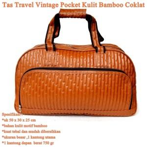 tas travel termurah kulit vintage pocket coklat tua