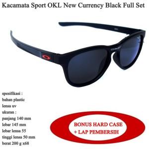 kacamata terlaris pria OKL currency sport hitam fullset
