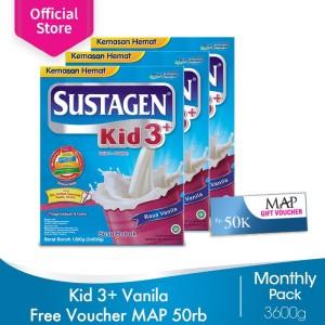 Sustagen Kid 3+ Susu Pertumbuhan Vanila 3600g Free Voucher MAP 50rb