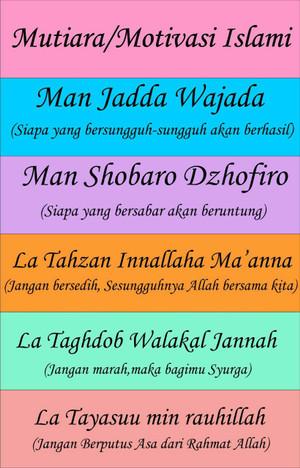 Hiasan Dinding Shabby Susun 6 Kata Mutiara Motivasi Islami