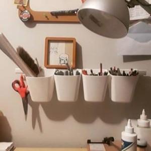 Kotak gantung Wadah serbaguna Wadah pot pot tanaman ikea tempat sendok