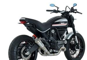 Conic Short version silencer in low position Ducati - SCRAMBLER