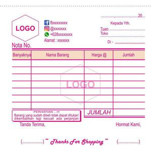 Jual Nota Invoice Custom 1 6 Hvs Kota Kendari Zidane Olshop Kendari Tokopedia
