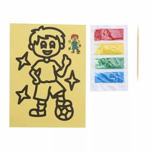 Mainan Edukasi Mewarnai Dengan Pasir UK 11,5X8,5cm
