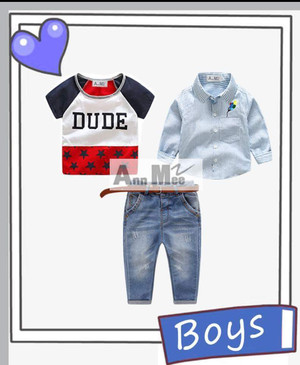 STELAN ANAK ANNMEE 4IN1 DUDE JEANS / BAJU FASHION ANAK
