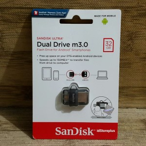Flash Disk SanDisk Ultra Dual Drive M3.0 32GB USB 3.0 OTG Original