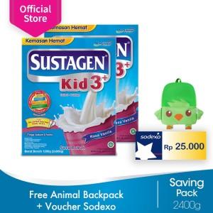 Sustagen Kid 3+ 2400g FREE Animal Backpack + Voucher Sodexo 25rb