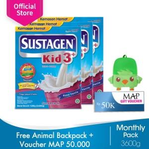 Sustagen Kid 3+ Vanila 3600g FREE Animal Backpack+Voucher MAP 50rb