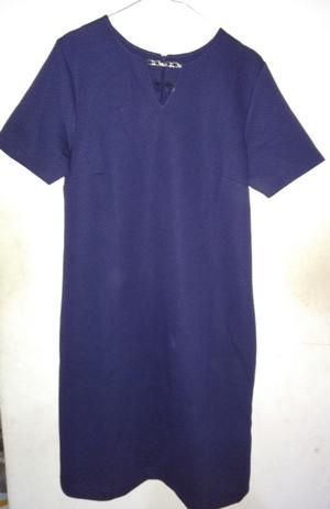 Preloved The Executive Ori Midi Dress / Dress selutut Navy Blue Size L