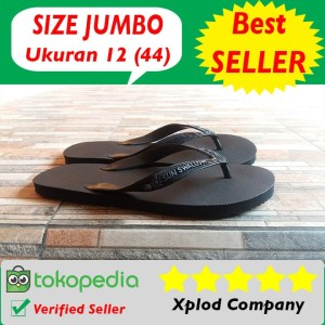 Sandal Jepit Premium Hitam Polos Merk Sun Swallow Termurah