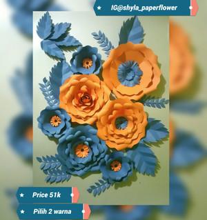 menakjubkan 28+ bunga mawar dari kertas manila - gambar