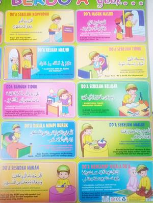 Image of poster edukasi anak poster pengenalan doa harian