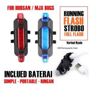 2 Pcs Lampu Drone Warning LED Light USB CHARGING PART HUBSAN MJX BUGS