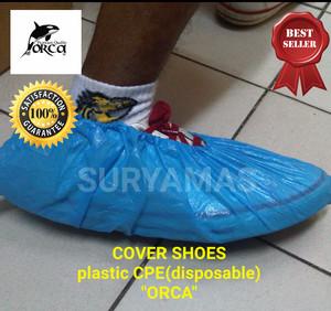 Cover shoes/cover shoes plastik/sarung sepatu/disposable cover shoes