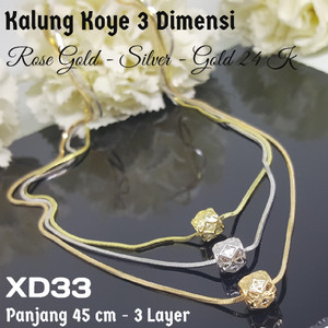 Kalung Korea Xuping Berliontin Gold Sg5 10 Emas 18k Beli Harga Murah Source · XD33 Kalung Koye Bola 3 Dimensi Silver Rose Gold Perhiasan Xuping Emas