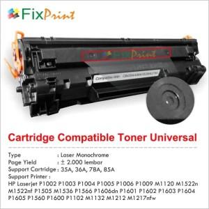 Compatible Toner Cartridge HP CE278A 78A, Printer HP LaserJet Pro P160