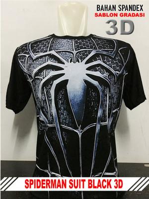 Kaos distro cotton spandex SPDM SUIT BLACK 3D