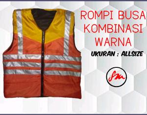 Rompi busa kombinasi/Safety vest busa kombinasi warna murah dan bagus