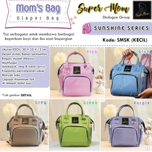 Jual Mom s Bag Diaper Bag Super Mom - Sunshine Series Kecil - Hijau ... 331161e576
