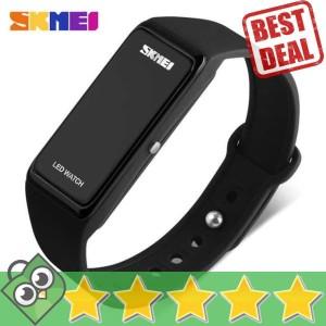 Jam Tangan Pria Digital SKMEI Rubber Wristband LED Original 1265A