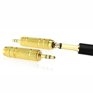 Adapter Converter Jack Audio 3.5mm male to 6.5mm female Gold Plate