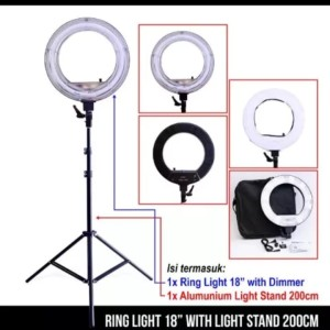 Paket Ring Light Neon with Alm Lighstand 200cm