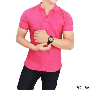 Polo Shirt/ Kaos Kerah//T Shirt Polo/Kaos Polo Pink Fanta