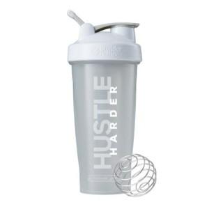 Smart Shaker Botol Fitness Gym Hustle Harder Grey
