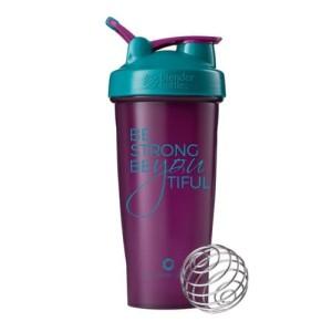 Smart Shaker Botol Fitness Gym Be Strong Plum