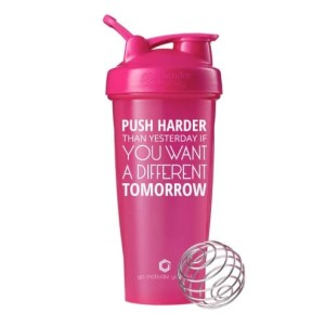 Smart Shaker Botol Fitness Gym Push Harder Pink