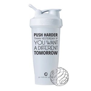 Smart Shaker Botol Fitness Gym Push Harder White