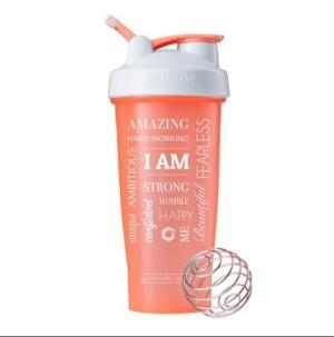 Smart Shaker Botol Fitness Gym I Am Word Coral