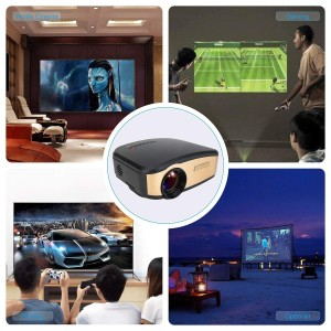 Projector WIFI Android Mini Proyektor Cheerlux C6 Wireless