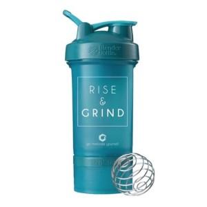 Blender Bottle Prostak Smart Shaker Gym Fitness Botol Rise Teal
