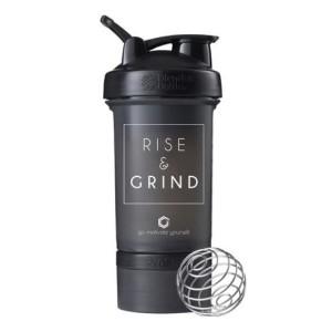 Blender Bottle Prostak Smart Shaker Gym Fitness Botol Rise Black